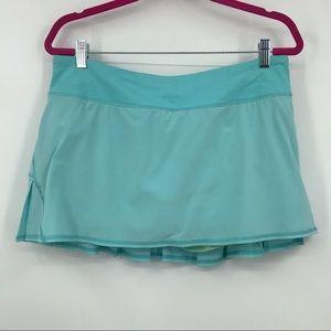 Lululemon Teal Tennis Pace Rival Skirt Skort 10